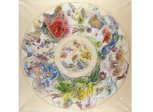 Chagall, ceiling of the opera