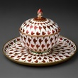 MFAH, Arts of Islamic Lands, al-Sabah Collection, November 2012, Lidded cup and tray