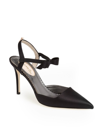 Pola Pump Black Sating, Nordstrom, SJP Collection