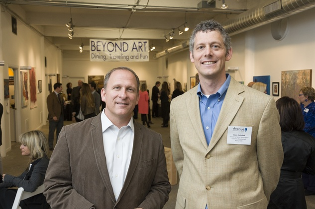 Thomas Stroh, left, and Jason Holoubek at Art on the Avenue November 2013