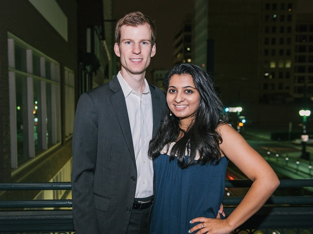 Houston Symphony YPB West Side Story event, March 2013, Adam VanDoren, Gira Desai