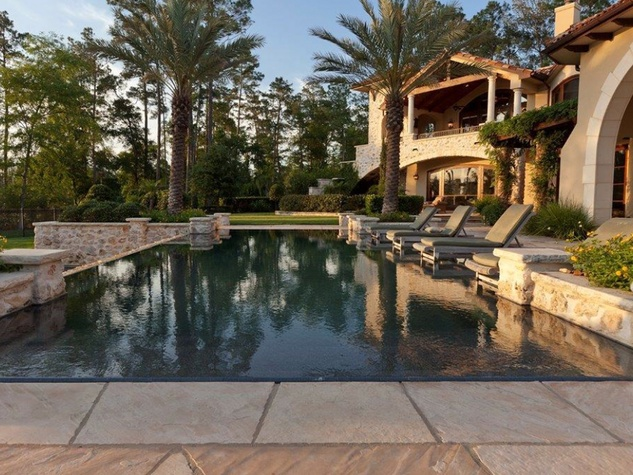 On the Market 15 Grand Regency Circle Enron mansion The Woodlands January 2015 pool
