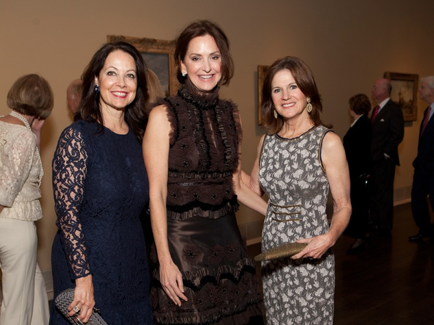 14 Karol Barnhart, from left, Laurie Morian and Judy Tate at the MFAH Impressionism dinner December 2013