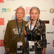 Ushio and Noriko Shinohara at the Houston Cinema Arts Festival opening night party November 2013