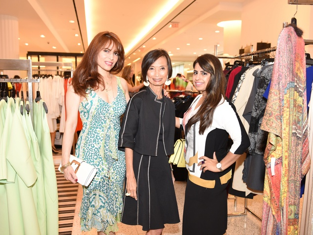 Tootsies Josie Natori brunch Karina Barbieri, Josie Natori and Ruchi Mukerjee