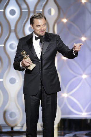 Leonardo DiCaprio at Golden Globes January 2014