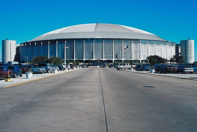 Astrodome, parking lot