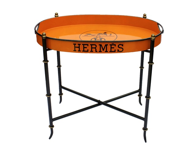 product photos for Laurier Blanc Hermes tray table