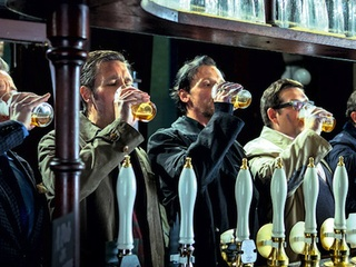 World's End with Simon Pegg and Nick Frost directed by Edgar Wright beer drinking