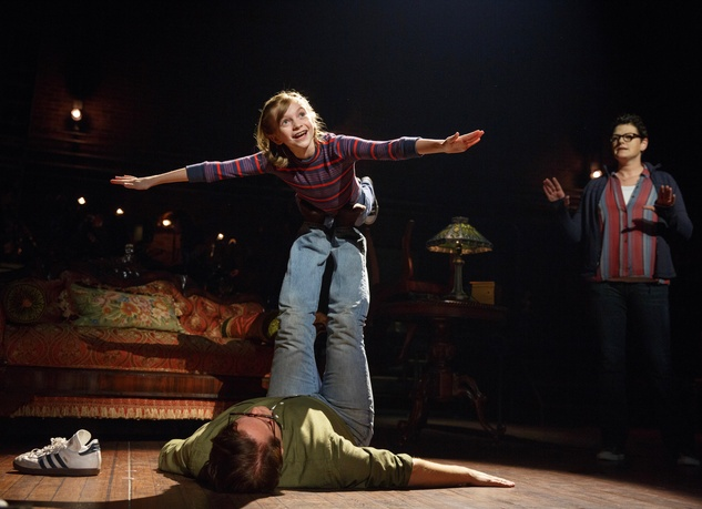 Fun Home Tour Carly Gold as Small Alison and Robert Petkoff as Bruce