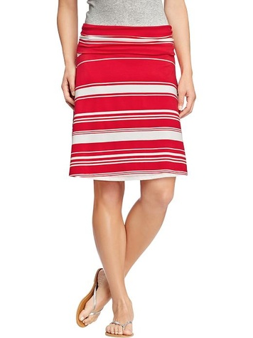old navy Women's Fold-Over Jersey Skirts