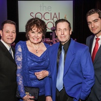 13 Jeff Henry, from left, Warner Roberts, Scott Evans and Sami Shbeeb at the Social Book Treasures dinner December 2014