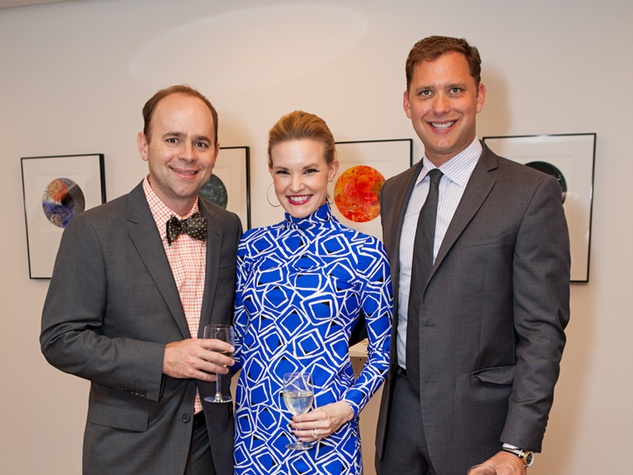 75 Brett and Margo Hogan, from left, with Ryan Gordon at the Blaffer Gala May 2014