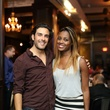 Alex Rosa and Alecia Harris at the Springbok restaurant kick-off party July 2014