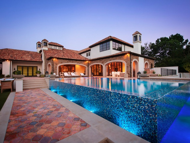 Pool at 10179 Brook Hollow Court in Dallas