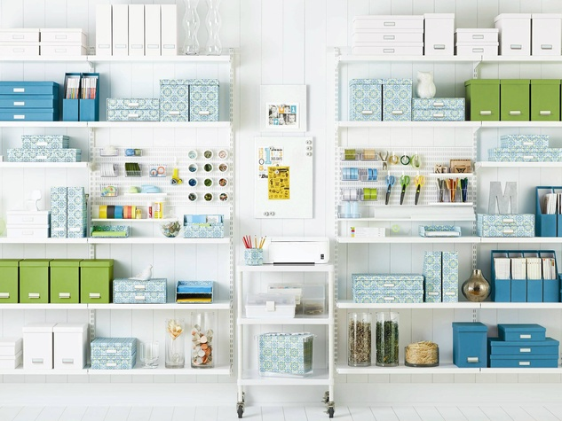 Container Store shelving unit