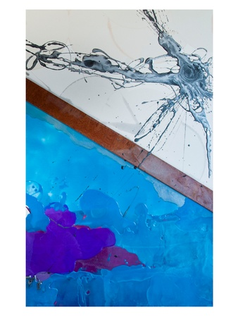 Havana Nights, art, Aquatic Walnut Depths, Resin and Walnut wood on Canvas