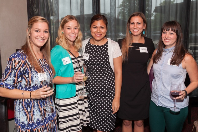 Ally Hatz, from left, Tara Lopez, Lily Cardenas, Christina Mullin and Heather Henry at Casa de Esperanza Young Professionals party July 2014.