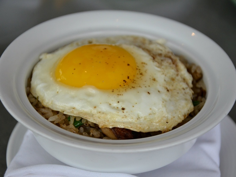 Wild mushroom fried rice at Five Sixty in Dallas
