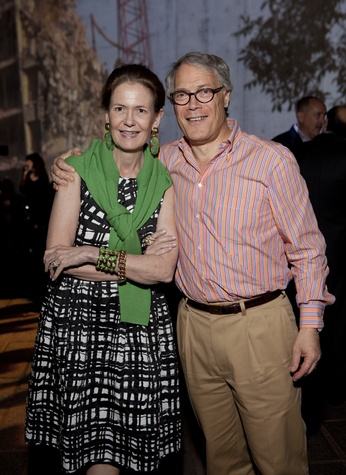 Betty and Stephen Newton at the Glassell School benefit and auction May 2014