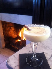 Eggnog cocktail at Bowen House in Dallas
