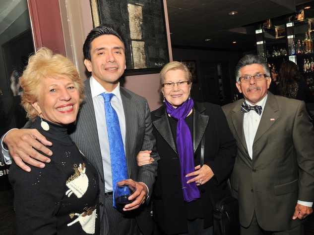 2, Hispanic Advisory Board party, December 2012, Yolanda Black Navarro, Tony Diaz, Elma Barrera, Ray Gutierrez