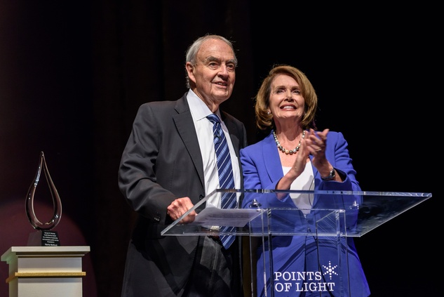 News, Shelby, Points of Light Tribute, Oct. 2015, Former U.S. Sen. Harris Wofford, House minority leader Nancy Pelosi