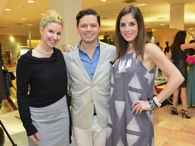 6 Lori Freese, from left, David Peck and Laura Max Nelson at the International Mother's Day Soiree May 2014
