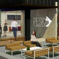 Peska seafood restaurant BLVD Place rendering exterior day July 2014
