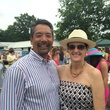 Frank and Stephanie Tsuru at the Yellowstone Academy polo party April 2014