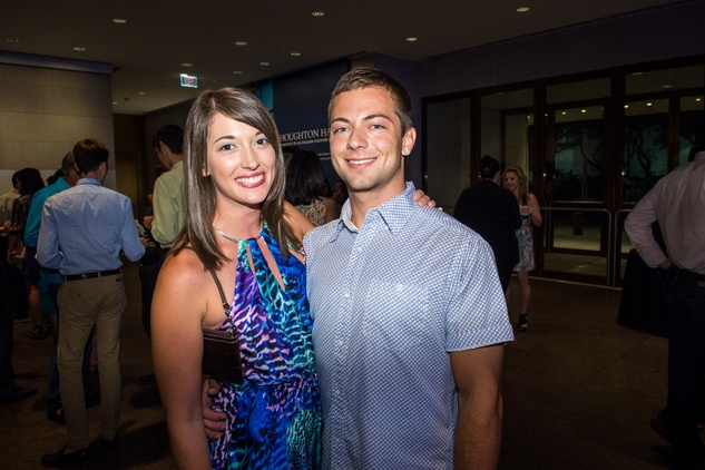 8 Audrey Turner and Ethan Jones at the MFAH Art Crowd party September 2014