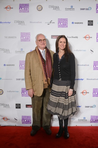 James Ivory and Julie Taymor at the Houston Cinema Arts Festival opening party November 2014.