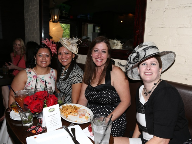 Austin Influential Group Derby Day at Ten Oak Gloria Orozco Alice Garza Caroline Carter Angie Hanna