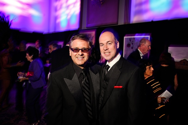 Ernie Manouse, left, and Jackson Hearn at DREAMSCAPE The Orange Show's 32nd Annual Gala November 2013