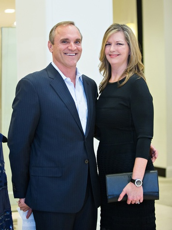 Brad and Diana Wander at the Houston Symphony Retrospective Exhibit event March 2014