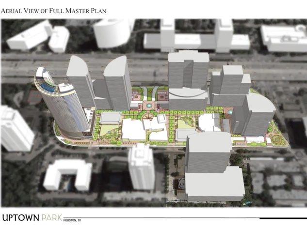 Uptown Park aerial view of full master plan