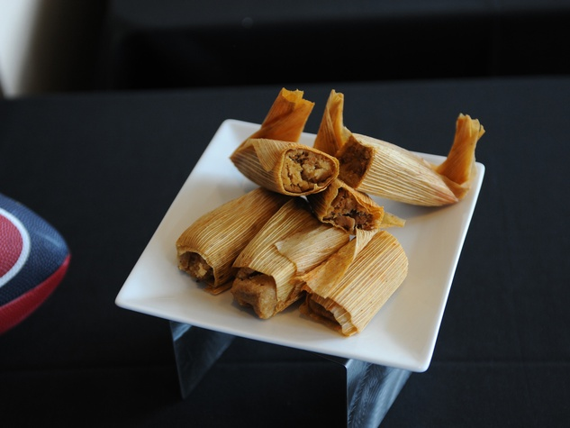 Texans tasting September 2014 tamales