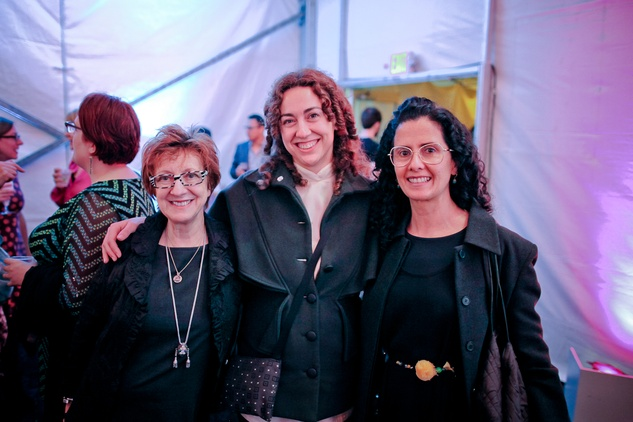 Anya Tish, from left, Linarejos Morno and Ana Maria Tavares at the FotoFest opening party March 2014