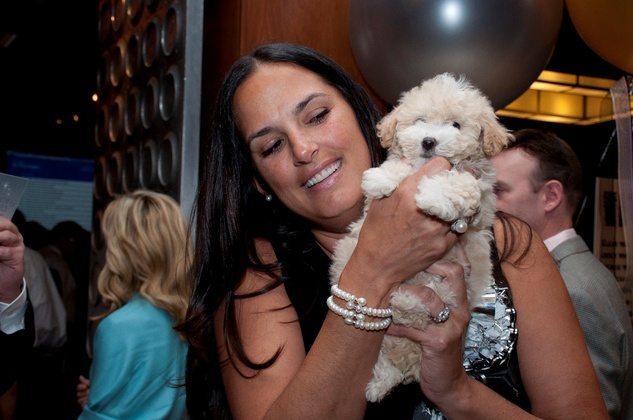 10 Michelle Putnik with Bella at the Spring Branch Education Foundation Gala October 2014