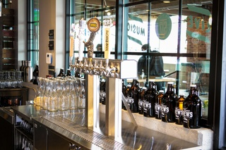 Beer Taps At The H E B San Felipe And Table 57 Social February 2015