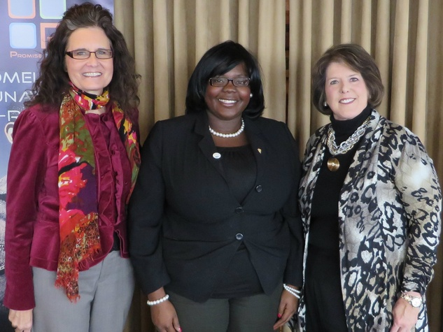Harriet Boorhem, Anita Crethers, Judy Wright, Promise House donor luncheon