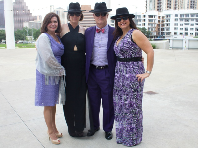 Long Center_Purple Party 7__Rose Betty Williams_Felicia and Craig Hester_Teresa Aita_2015