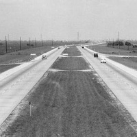 The Gulf Freeway in 1956