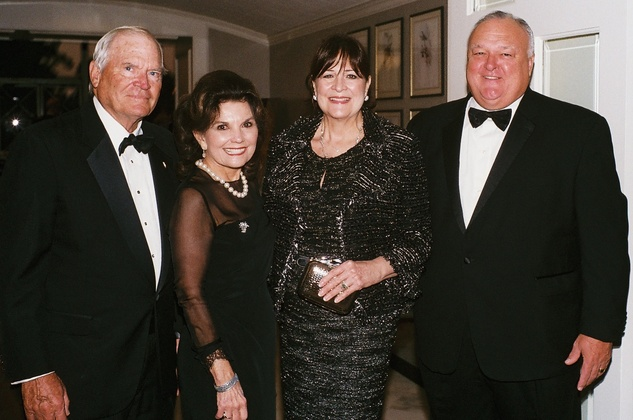 008A Walter and Linda McReynolds, left, and Cynthia and Bucky Allshouse at the In Rice's Honor dinner October 2014