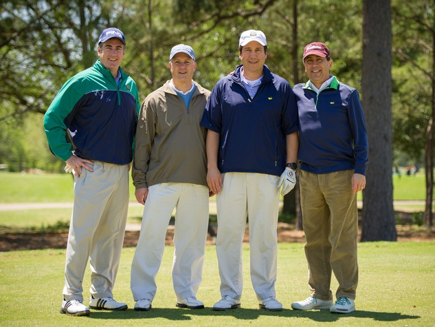 4 Scott Nielson, from left, Chris McLean, David Castaneda and Dan Castaneda at the Children's Museum Spring Golf Classic April 2014