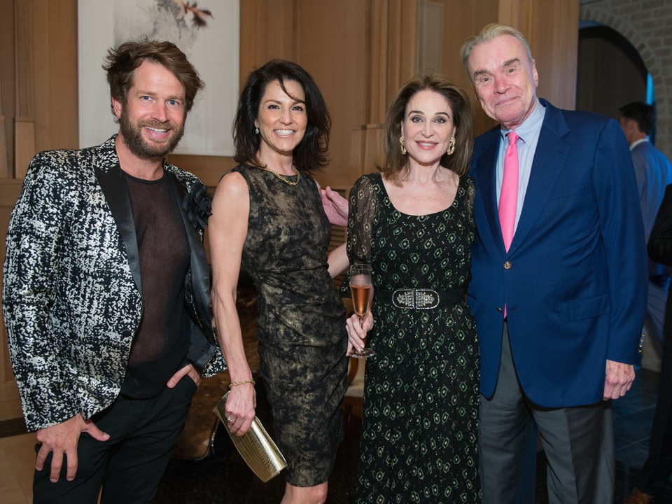 Jeff Shell, Jessica Rossman, Becca Cason Thrash, Gordon Bethune at Recipe for Success dinner
