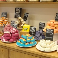 Lush Fresh Handmade Cosmetics soaps on counter