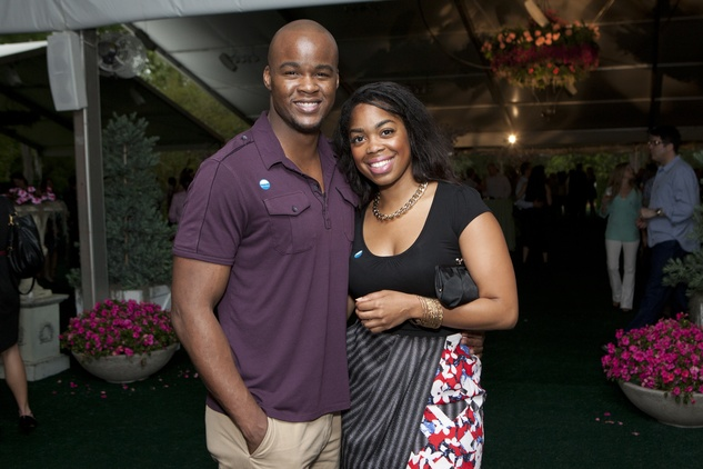 Taigi Dean and Chanel Lockhart at Bayou Bend's Bubbly on the Bend April 2014