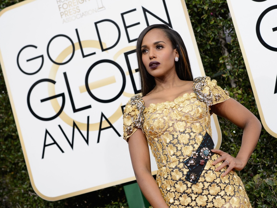 Kerry Washington at Golden Globes 2017