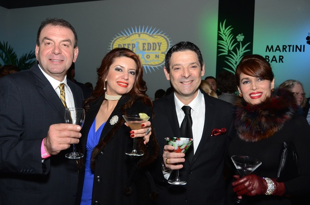 325 Jesse Mussa, from left, Parissa Mohajer and Carlos and Karina Barbieri at the Craft Museum Martini Madness party January 2015